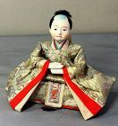 Japanese Male Doll with Brocade silk Garment