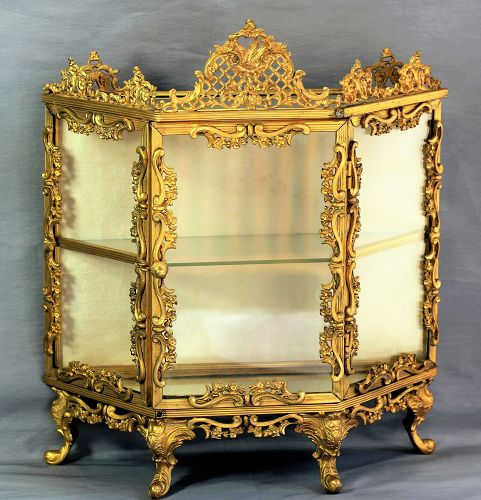 French Ormolu and Glass Display Case