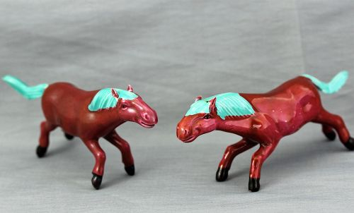 Two(2) Chinese Porcelain Horses