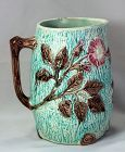 Majolica Pitcher with Wild Rose