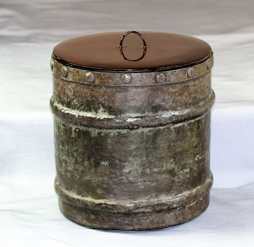 Japanese hand hammered Copper Mizusashi/Water Container
