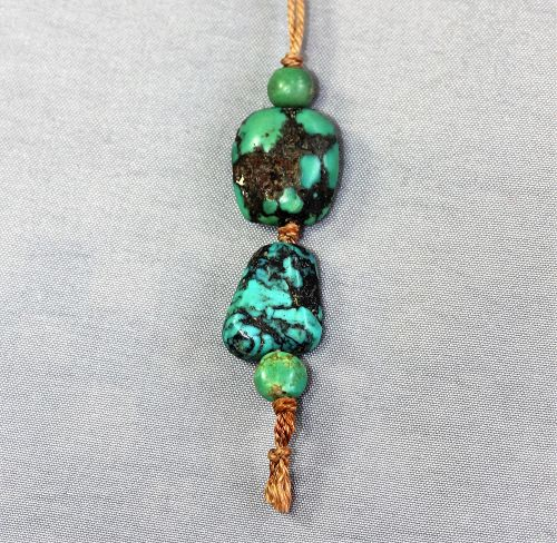 Chinese Natural Turquoise stone Tassel