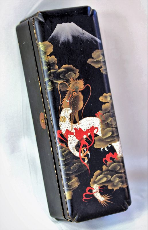 Japanese crushed Egg Shell on Lacquer Document Box