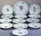 12 German Berlin reticulated Plates & matching Charger