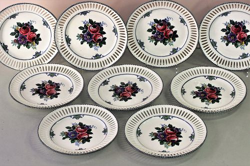 Nine(9) German Waechtersbach reticulated plates