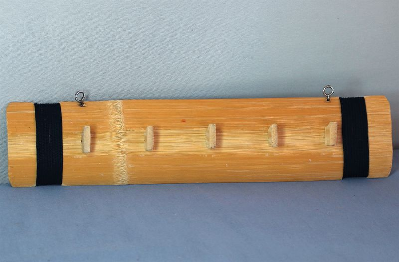 Chinese Bamboo Hanger with 5 hooks