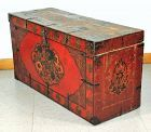 Tibetan Lacquered relief Dragon on Wood Trunk