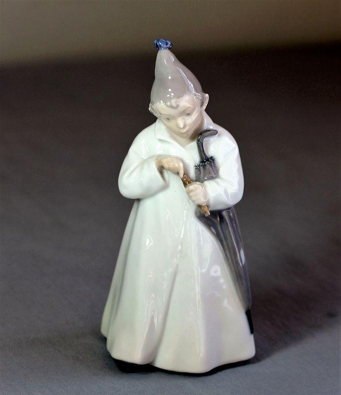 Royal Copenhagen Danish Porcelain Boy Figure