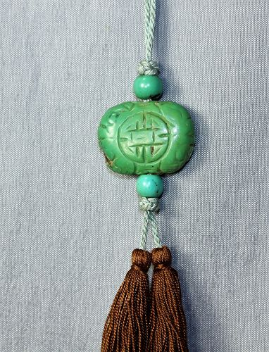 Chinese natural Turquoise Tassel