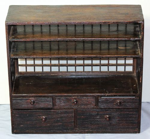 Japanese Kiri wood Merchant Chest with shelf & drawer