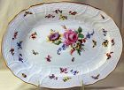 German Meissen Porcelain Platter, cross sword mark