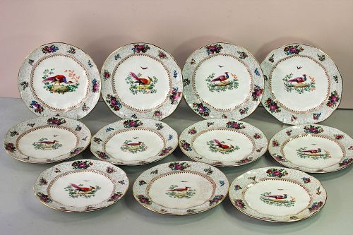 English Booths Game Plates(11), Tiffany & Co.