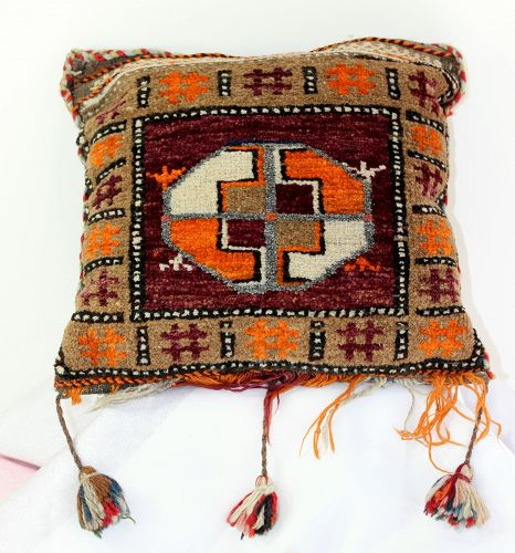Afghanistan Wool Grain Bag made to Pillow