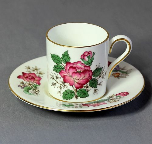 English Wedgwood Bone China Demitasse Cup & Saucer