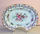 Chinese Export Famille Rose Porcelain Barber's Bowl, 19th C.
