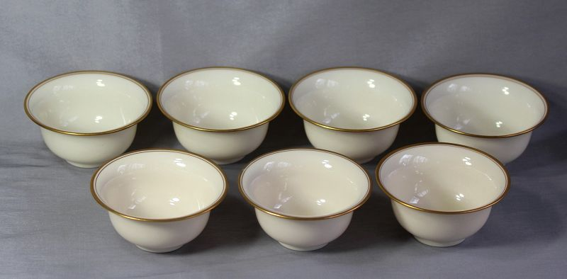 7 Lenox Porcelain Bouillion soup Inserts for sterling holder