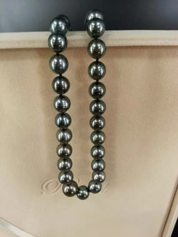 One piece of perfect black pearl from deep south sea