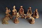 One set of han dynasty banquet pottery figure