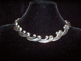Antonio Pineda Vintage Mexican Silver Necklace