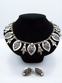 Felipe Martinez Vintage Mexican Silver Necklace