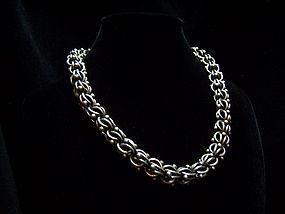 Antonio Pineda Vintage Mexican Silver Chain Necklace