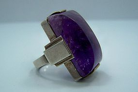 Fred Davis Vintage Mexican Silver Superb Ring