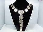 Vintage Mexican Silver Coin Necklace Incredible