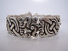 William Spratling Mexican Vintage Silver X & O Bracelet