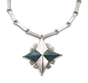 William Spratling Vintage Mexican Silver Star Necklace