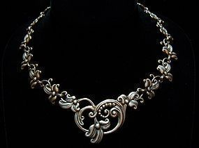 Margot de Taxco # 5480 Vintage Mexican Silver Necklace