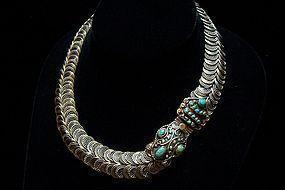 Matilde Poulat Vintage Mexican Silver Necklace Matl