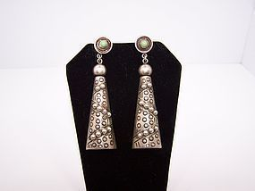 Magnificent Parra Vintage Mexican Silver Earrings