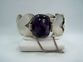 Fred Davis Dsg Amethyst Vintage Mexican Bracelet