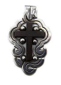 William Spratling Vintage Mexican Silver Cross Pendant
