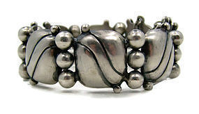 William Spratling Pillows Mexican Silver Bracelet
