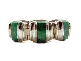 Ledesma Stone Vintage Mexican Silver Bracelet Rare