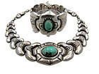 Velasquez Mexican Silver Necklace Bracelet Set