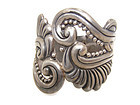Taxco 980 Vintage Mexican Silver Clamper Bracelet