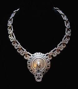 Maricela Vintage Mexican Silver Necklace