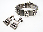 Hector Aguilar Mexican Silver Bracelet & Earrings