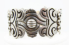 Hector Aguilar  Mexican Silver Old Maguey Bracelet