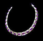 Felipe Martinez  Amethyst Mexican Silver Necklace