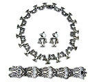 Pedro Castillo  Mexican Silver Bracelet Necklace Er