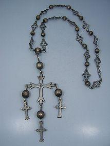 Pre Spratling Cross & Original Chain Necklace