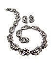 Bernice Goodspeed Vintage Mexican Silver Necklace Earrings Rare