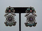 Mexico City Vintage Mexican Silver Earrings Matl Design