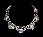 Margot de Taxco # 5213 Vintage Mexican Silver Hearts Necklace