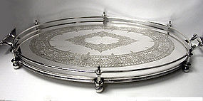 James Dixon English Silver Plate Tray, English C.1890