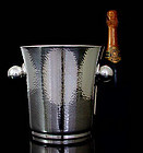 Art Deco Modernist Silver Plate hammered Wine Cooler