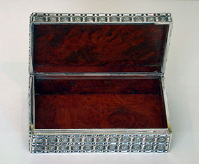Asian Silver Box, marked 0.900 Le Loi C.1920